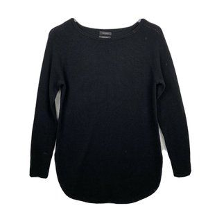 Halogen Cashmere Blend Sweater XS Womens Black Lon